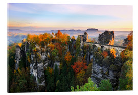 Cuadro de metacrilato  Bastei Bridge in Saxon Switzerland - Reemt Peters-Hein