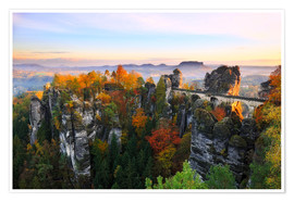 Póster  Bastei Bridge in Saxon Switzerland - Reemt Peters-Hein