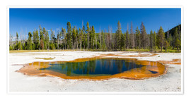 Póster Panorama Emerald Pool, Yellowstone National Park