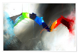 Póster Colorful lines