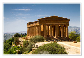 Póster Temple of Concordia, Agrigento, Sicily