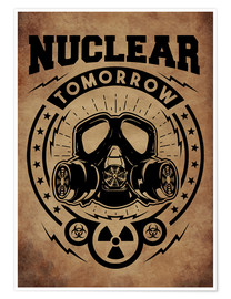 Póster nuclear tomorrow vintage