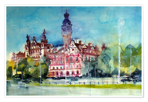 Póster Leipzig, New Town Hall