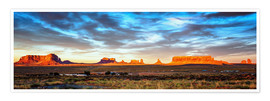 Póster Monument Valley panorama