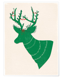 Póster Green Stag