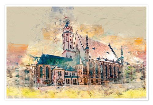 Póster The Thomaskirche in Leipzig
