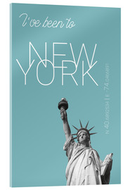 Cuadro de metacrilato  Popart New York Statue of Liberty I have been to Color: Light blue - campus graphics