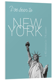 Cuadro de PVC  Popart New York Statue of Liberty I have been to Color: Light blue - campus graphics