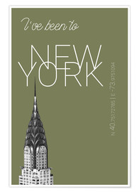 Póster Popart New York Chrysler Building I have been to Color: calliste green