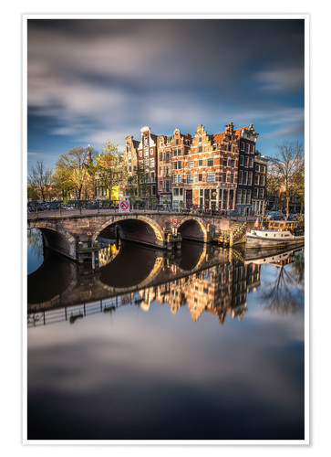 Póster Amsterdam during morning light