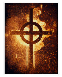 Póster burning cross