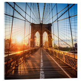 Cuadro de metacrilato  Brooklyn Bridge in New York City - Jan Christopher Becke