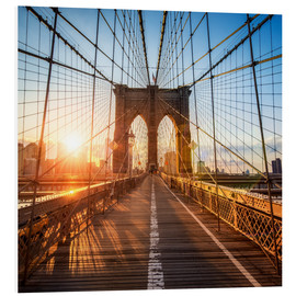 Cuadro de PVC  Brooklyn Bridge in New York City - Jan Christopher Becke