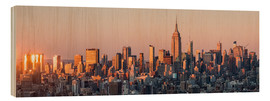 Cuadro de madera  Manhattan skyline in New York City, USA - Jan Christopher Becke