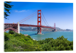 Cuadro de metacrilato  Golden Gate Bridge in San Francisco, California, USA - Jan Christopher Becke