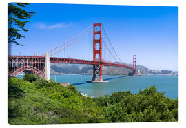 Lienzo  Golden Gate Bridge in San Francisco, California, USA - Jan Christopher Becke