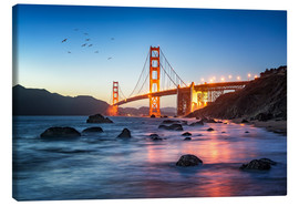Lienzo  Golden Gate Bridge at sunset in San Francisco, USA - Jan Christopher Becke