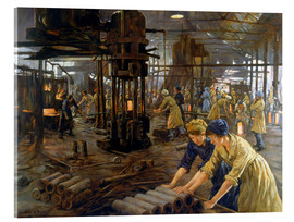 Cuadro de metacrilato  'The Munitions Girls' oil painting, England, 1918 Wellcome L0059548 - Stanhope Alexander Forbes