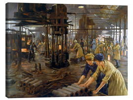 Lienzo  'The Munitions Girls' oil painting, England, 1918 Wellcome L0059548 - Stanhope Alexander Forbes