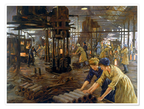 Póster 'The Munitions Girls' oil painting, England, 1918 Wellcome L0059548