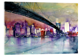 Cuadro de metacrilato  New York, Brooklyn Bridge III - Johann Pickl