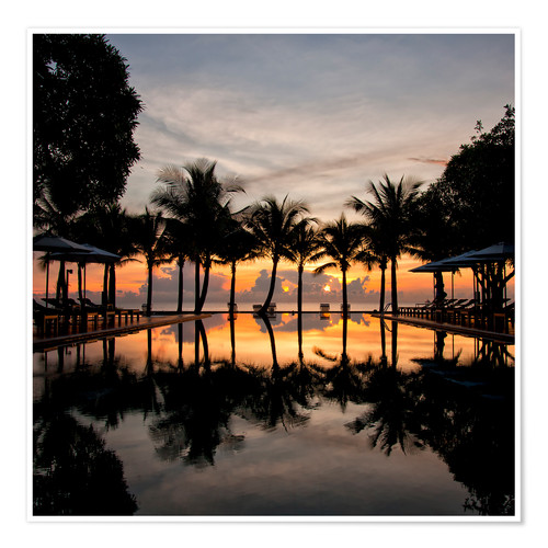Póster Luxury infinity pool on the Gulf of Thailand