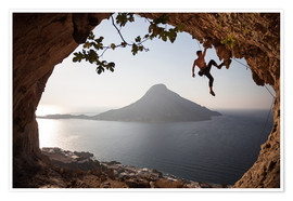 Póster  Climber on the Kalymnos island, Greece