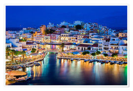 Póster  Agios Nikolaos on the island of Crete
