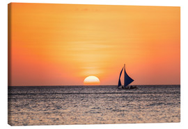 Lienzo  Sailboat in the sunset