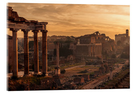 Cuadro de metacrilato  Rome : the Temple of Saturn