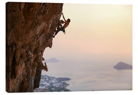 Lienzo  Climber on Kalymnos - Greece
