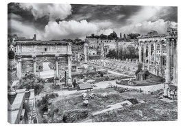 Lienzo  ruins of the Roman Forum in Rome