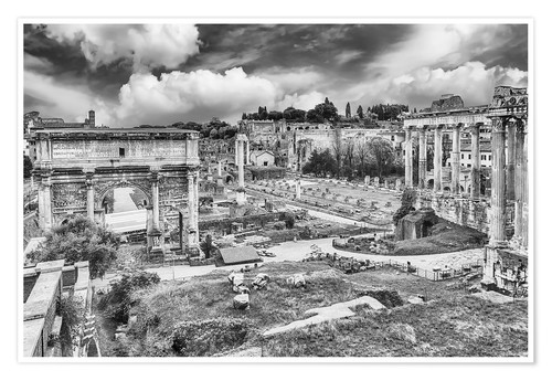 Póster ruins of the Roman Forum in Rome