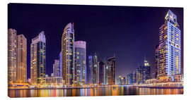 Lienzo  Panoramic view - Dubai Marina Bay