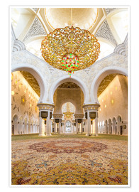 Póster  Gold sheen of the Sheikh Zayed Mosque