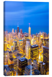 Lienzo  Chicago City at night