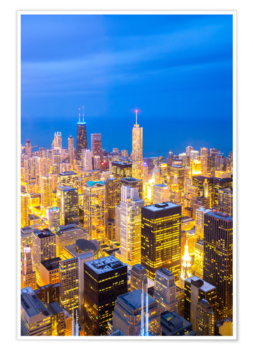 Póster Chicago City at night