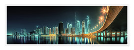 Póster Panoramic view - Dubai Business Bay