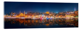 Istanbul and Bosporus at night