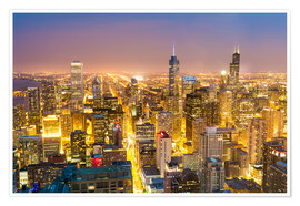Póster Golden Chicago