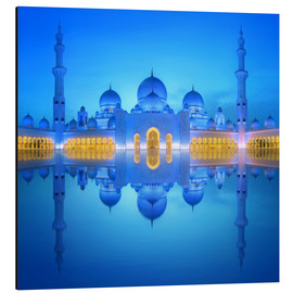 Aluminio-Dibond  Sheikh Zayed Grand Mosque at blue