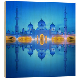 Madera  Sheikh Zayed Grand Mosque at blue