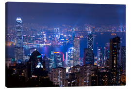 Lienzo  View of Hong Kong from Victoria Peak