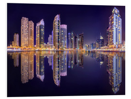 The beauty of the marina in Dubai
