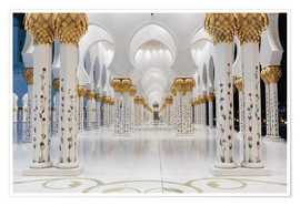 Póster  famous Sheikh Zayed mosque