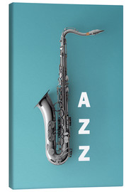 Lienzo  Saxophone on color II