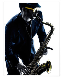 Póster saxophonist playing saxophone