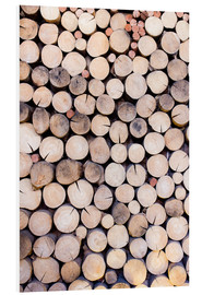 Cuadro de PVC  Decorative woodpile
