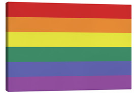 Lienzo  Gay pride flag