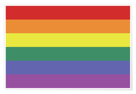 Póster  Gay pride flag